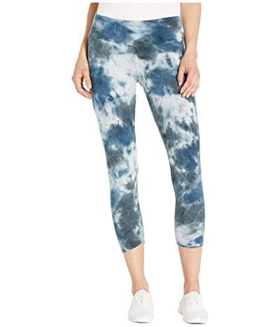 Hard Tail Flat Waist Capris (Botanical Wash # 3) Women
