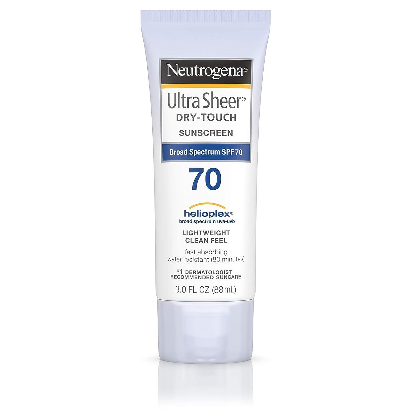 復活会計コロニアルNeutrogena Ultra Sheer Dry-Touch Sunscreen, SPF 70, 88 ml (並行輸入品)