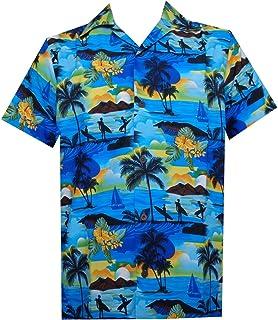 6ca71ed4 Hawaiian Shirt Mens Allover Ocean Scenic Camp Party Aloha Holiday Beach