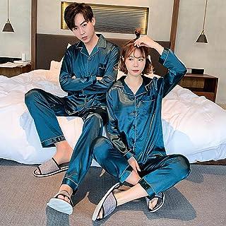 Gbrand Young Lover Pajamas Women Long-sleeved Spring Summer Pyjama Loose Men Couple Pijama Set Warm Sleepwear Top+ Pant-Me...