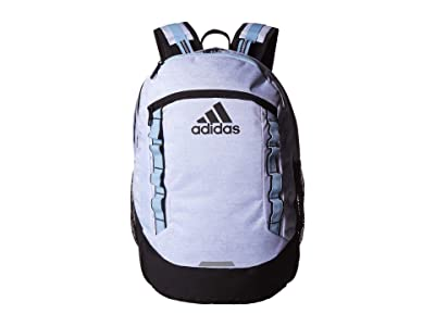 adidas Excel V Backpack (Jersey White/Glow Blue) Backpack Bags