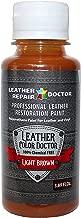 Profesional Luz Pintura para de piel color marrón touch-up, recoloring y restauración–Zapatos, chaqueta, bolso de mano, cinturón, sofá, silla, sofá, motocicleta y asiento de coche
