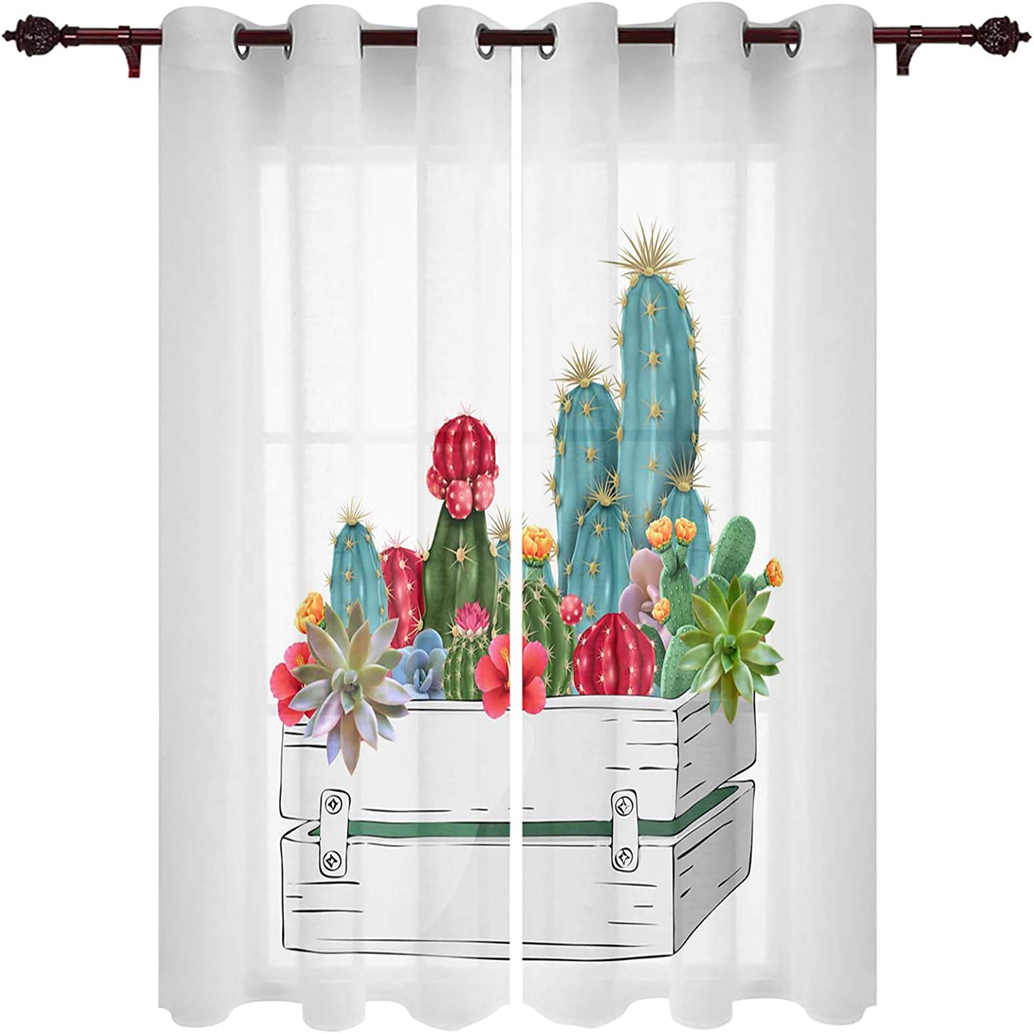 LooPoP Window Curtains Year-end annual account Branded goods with Grommets Cafe Bedroom for Kitchen Gr