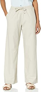 Amazon Brand - 28 Palms Women's Stretch Linen Pant with...