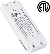 HitLights 25 Watt Dimmable Driver, Electric LED Driver - 110V AC-12V DC Transformer. Compatible with Lutron, Leviton and More for LED Strip Lights, Constant Voltage LED Products