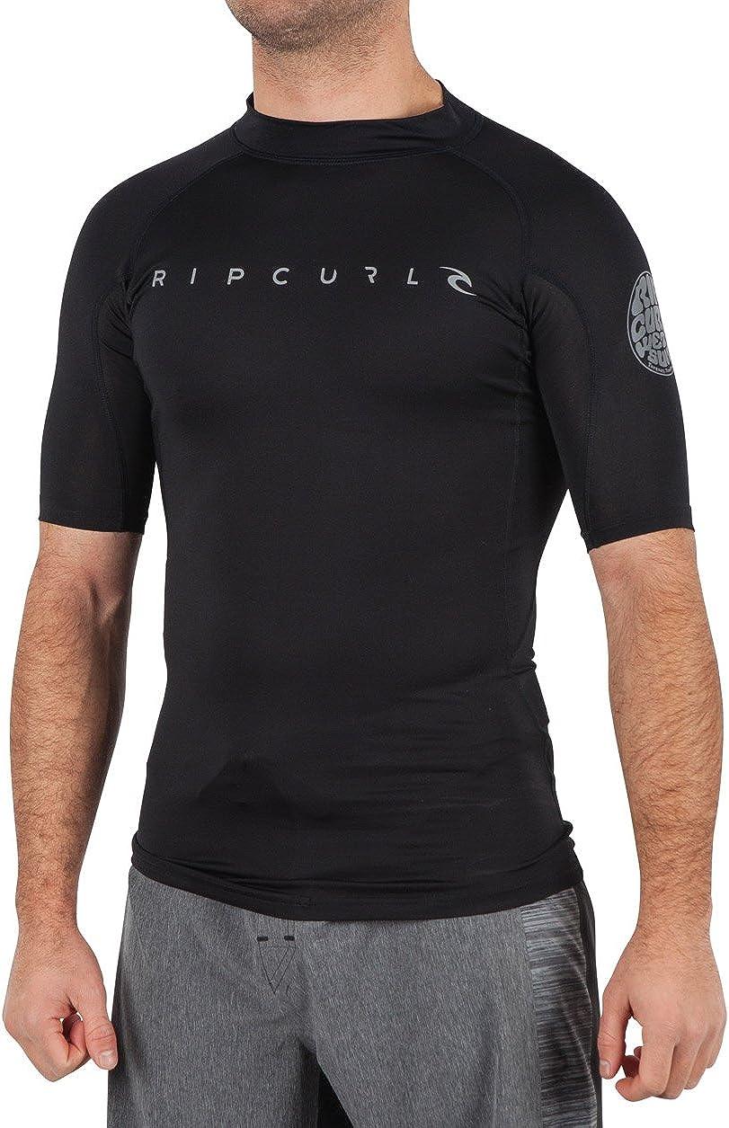 Rip Curl Men's Trestles Long Sleeve Loose Fit 50+ UPF Sun Protection Rash Guard Swim Shirt