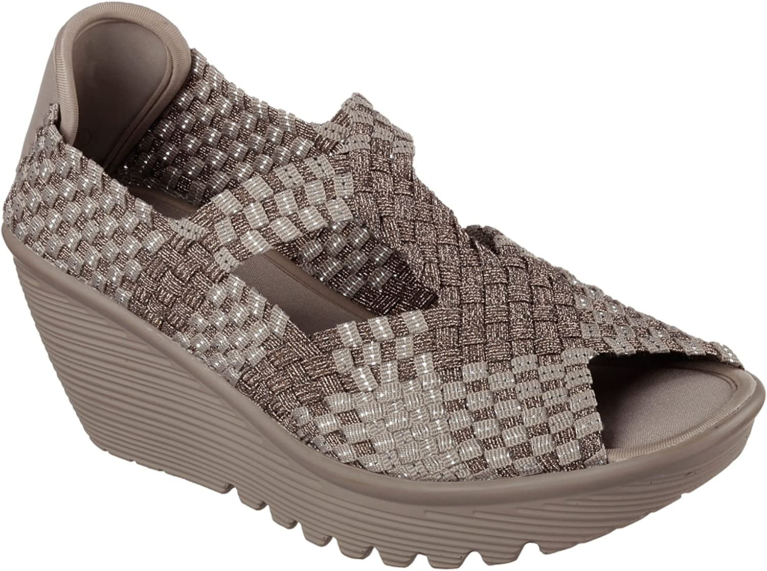 Skechers Women's Parallel Disbeweave Open Toe Wedge