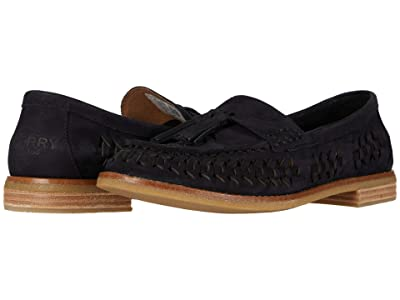 Sperry Seaport Penny PlushWave Woven Leather (Black) Women