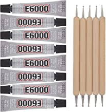 E6000 8-Pack 0.18 Ounce Bottles Industrial Strength Adhesive for Crafting and Pixiss Wooden Art Dotting Stylus Pens 5 pcs ...