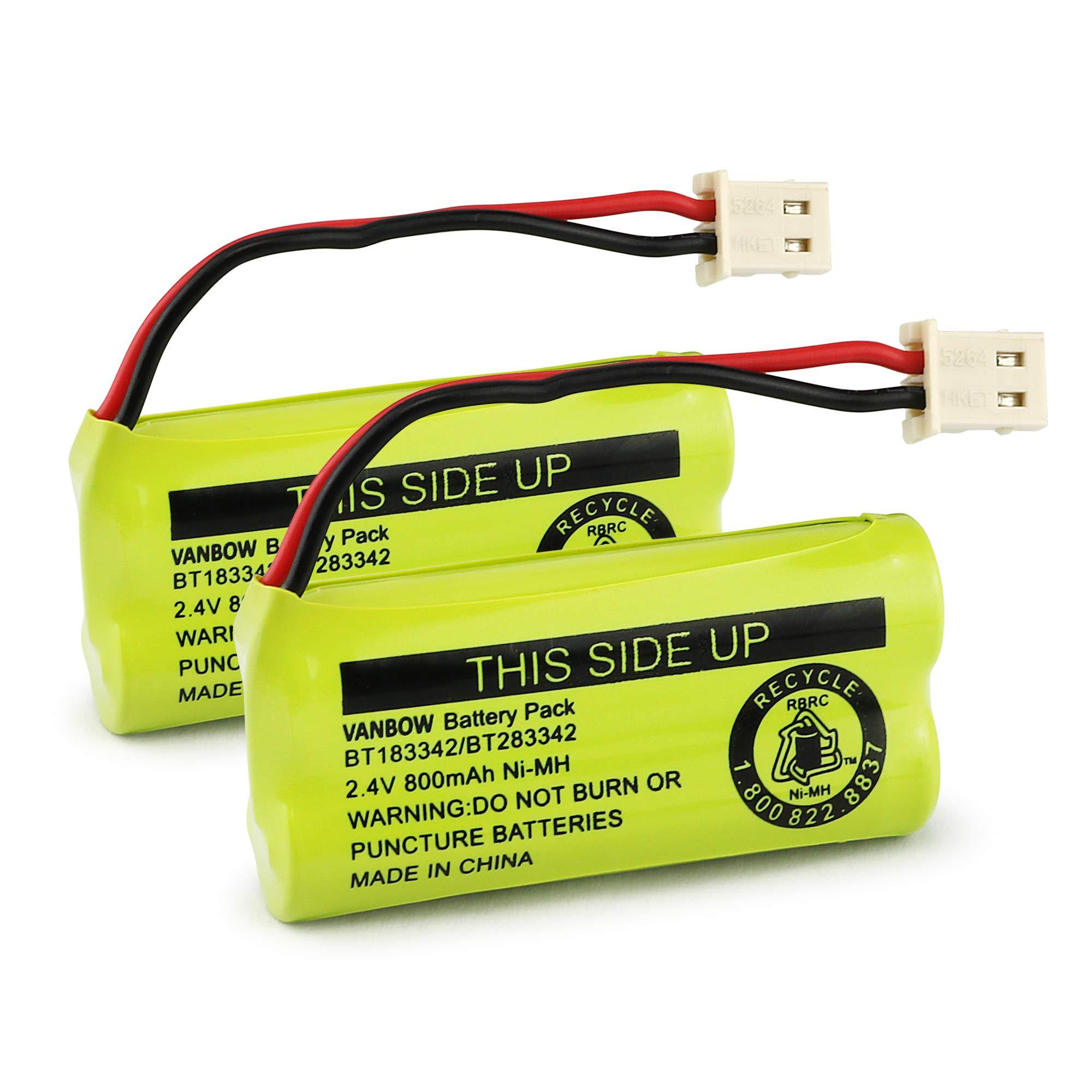 2 Baterias Para VTech Cordless Phone Batteries BT166342 BT
