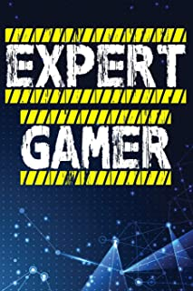 Expert Gamer: Notebook, Notepad, Journal, Jotter.   Game Cheat Collection 100 Pages 9x6 Ruled Pages.   PC, Console Gamer Gift Idea