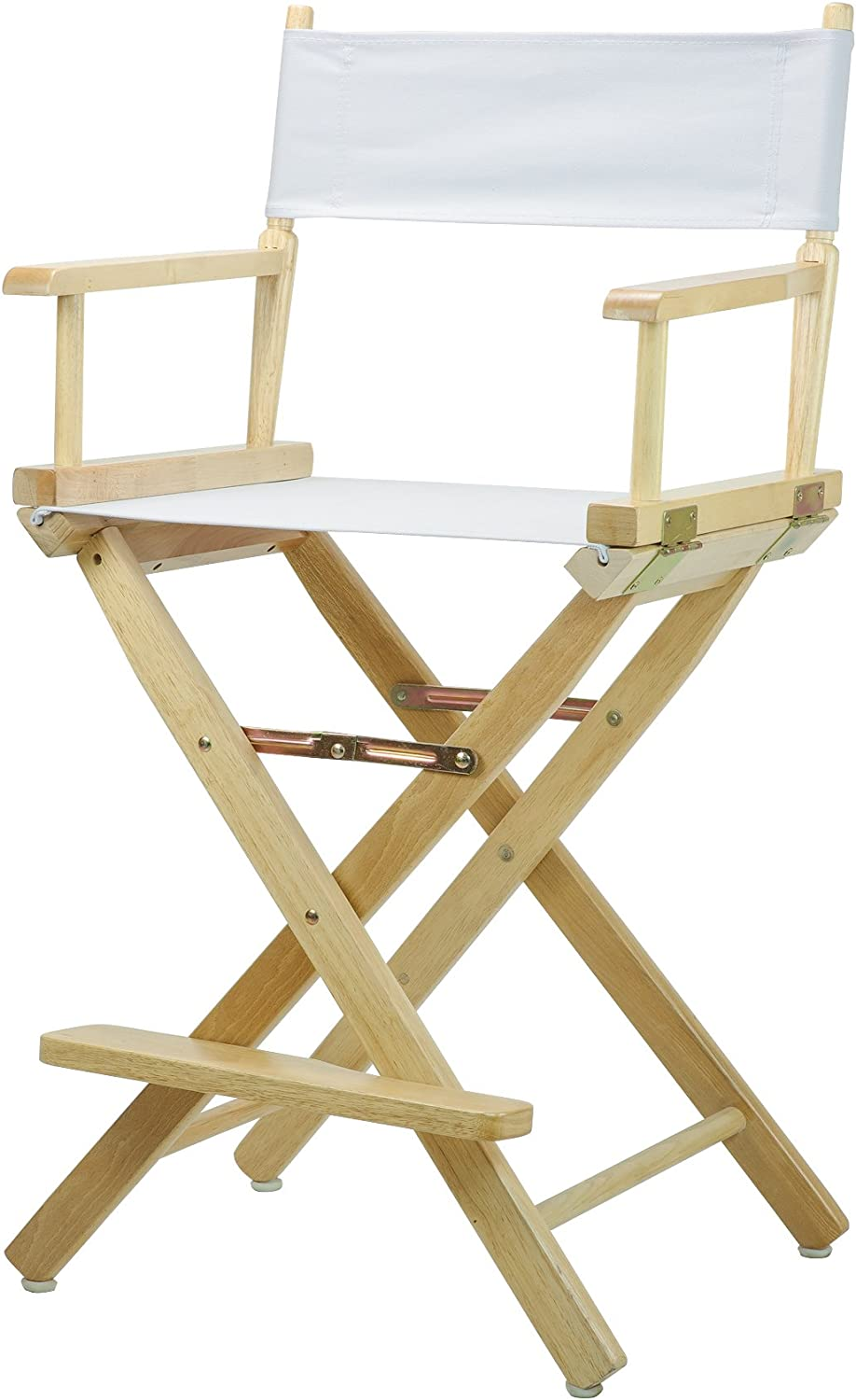 Casual Home 24-Inch Director Chair Natural Frame, White Canvas