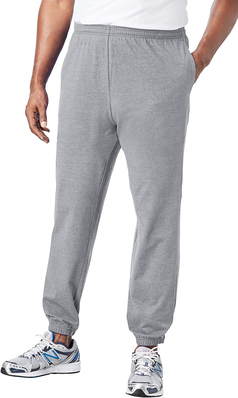KingSize Men's Big Mail order cheap Tall Elastic Lightweight Cuff Sweatpants Max 65% OFF