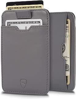 CHELSEA Slim Minimalist Leather Wallet for Men with RFID Blocking, Front Pocket Credit Card Holder (Chromium Grey)