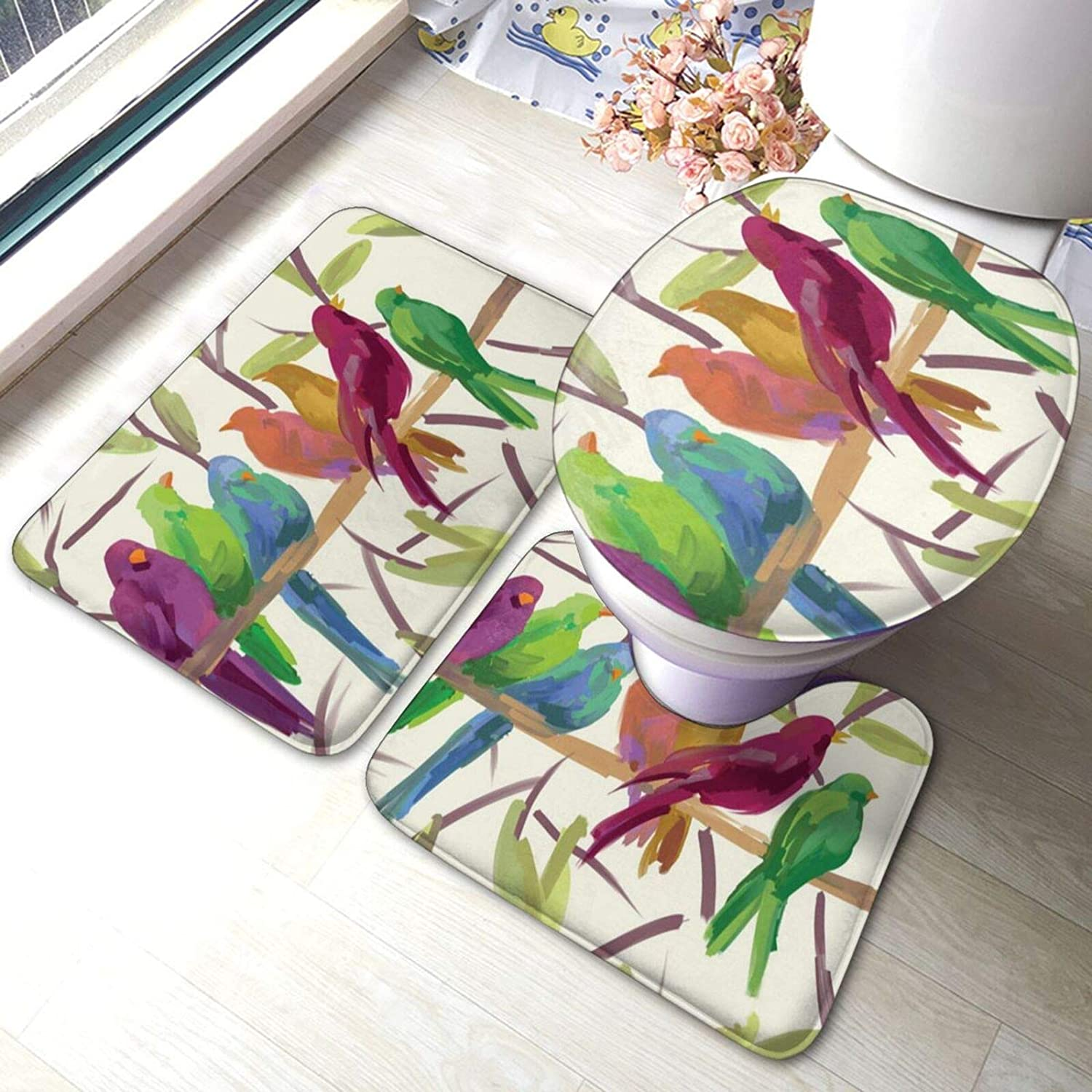 Watercolor Bird Flock Together A surprise price is realized Rest On Print R Bathroom Tree The low-pricing