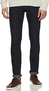 DIVERSE Men's Skinny Fit Jeans (DCMDT03KC24L33-508D_Black_28W x 33L)