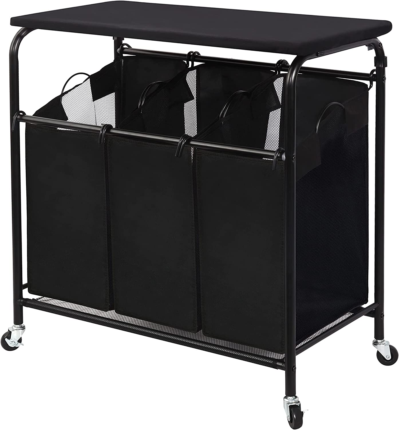 STORAGE MANIAC Regular dealer Cheap mail order specialty store 3-Section Laundry Heavy-Duty Sorter Rolling Laun