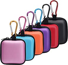 SUNMNS 6 Pieces Headphone Case Earphone Storage Bags Compatible for Wireless Beats Bose Earbuds, Airpods, Bluetooth Sport Headphone with Carabiners