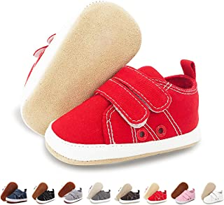 ENERCAKE Baby Boys Girls Shoes 100% Leather Anti-Slip Buttom Infant Sneakers Newborn First Walker Crib Shoes