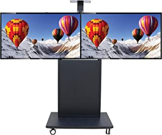 Sponsored Ad – Dual-Screen Mobile TV Stand Video Conference TV Rack Floor Mobile Cart with Terminal Chassis Cabinet Vertic...