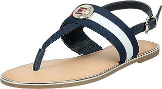Tommy Hilfiger Th Round Hardware Flat Sandal, Women's Fashion Sandals