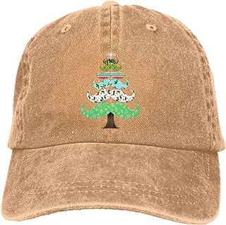 4f4ba8b37cb Laoyaotequ Trucker Cap Christmas Mustache Tree Durable Baseball Cap Hats  Adjustable Dad Hat Black
