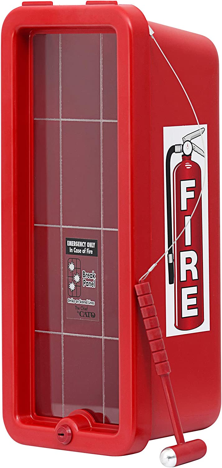 2 Pack Max 62% OFF Red Surface-Mounted Fire Same day shipping Hamme Extinguisher with Cabinet