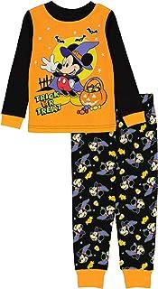 Disney Kids' Minnie and Mickey Seasonal Snug Fit Cotton Pajamas
