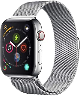 Apple Watch Series 4 Reloj Inteligente Acero Inoxidable OLED Móvil GPS (satélite) - Relojes Inteligentes (OLED, Pantalla t...