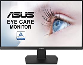 "Asus VA24EHE 23.8"" Monitor, 1080P, Full HD, IPS, 75Hz, HDMI D-Sub DVI-D, Adaptive-Sync / FreeSync, VESA wall mountable, Eye Care, Flicker-free and Low Blue Light"