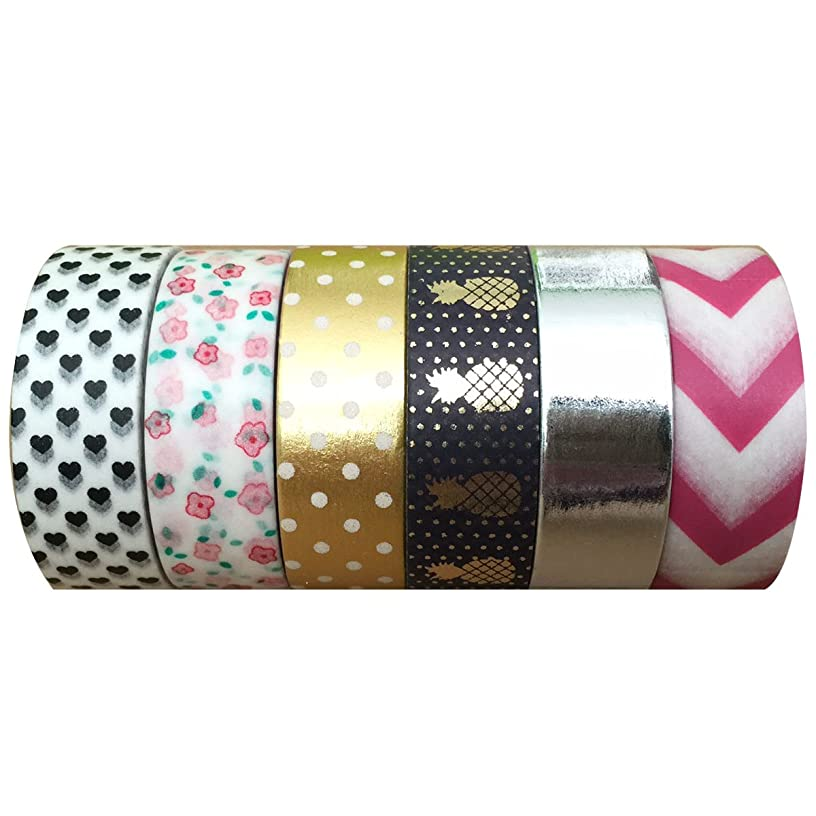 Wrapables VPK100 Washi Premium Value Pack Masking Tape Collection