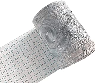 Mullsan 5Meters Silver Flower Bud Wallpaper Border Peel & Stick Wall Covering Kitchen Bathroom Bedroom Tiles Decor Sticker