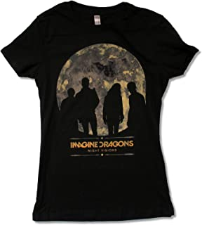 Juniors Imagine Dragons Night Visions Tour 2013 (Charlotte-Vegas) Blk T-Shirt
