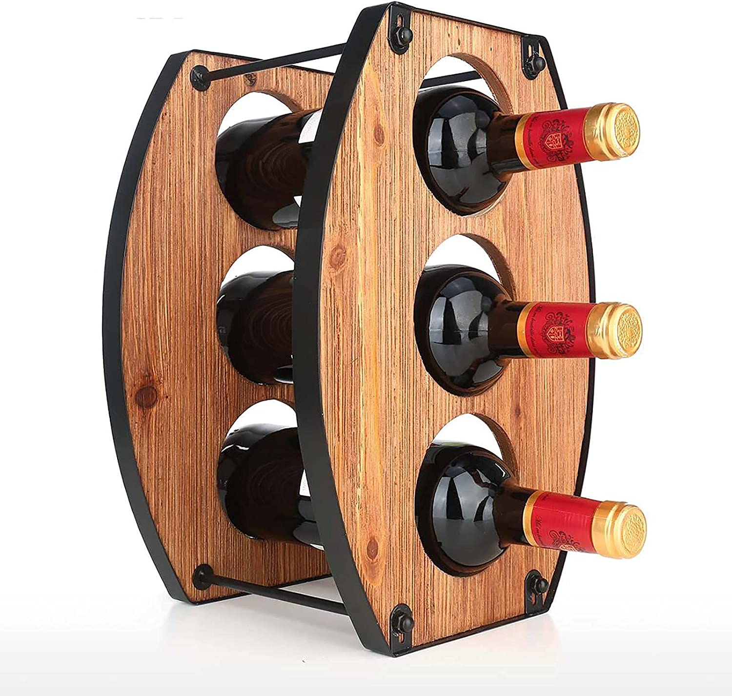 3 Bottles Tabletop Wine Holder B Iron Selling and selling Topics on TV Holes Three Removable
