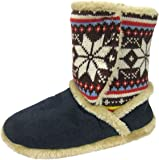 Ladies Cooler Slipper Nordik Design & Microsuede Warm Snugg Boot 078