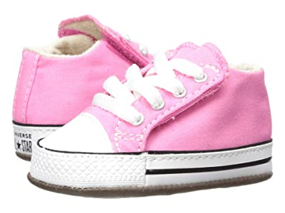 Converse Kids Chuck Taylor(r) All-Star(r) Cribster Gravity Graphic Mid (Infant/Toddler) (Pink/Natural Ivory/White) Girls Shoes