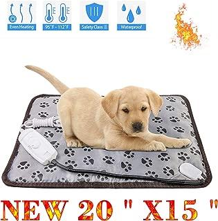 wangstar Heat Pad for Pet Dog Cats Indoors Safety Electric Dog Heat Mat Waterproof Steel Chew Proof