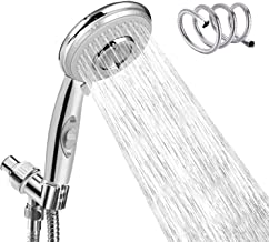 Autobag Shower Heads with Handheld Spray Multi-functions Showerhead with 2m Hose, Holder ON/Off Switch,Chrome Finish, Water Saving with Adjustable Holder for Bathroom