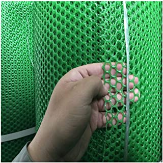 MLM slpw Plastic Chicken Wire Mesh Hexagonal Plastic Poultry Netting Extruded Plastic Chicken Wire Fence Coated Plastic Poultry Netting (Color : Green Hole 1.8cm, Size : 0.5×5m)