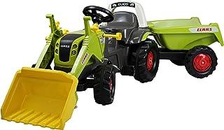 Anhänger-Tipp Rolly Toys 02 515 2 Trettraktor rollyKid Claas rollyKipper II Tretfahrzeug mit Frontlader-Schaufel und Kipp-Anhänger, für Kinder von 2,5-5 Jahre 025152