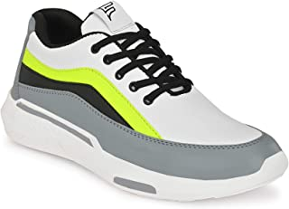 FENTACIA Men White Running Shoes