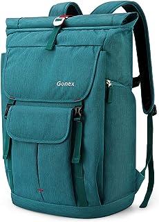 Gonex 35L Laptop Rucksack Laptoprucksack Notebook Wasserabweisende Schultasche mit Mehreren Taschen für Arbeit Business Schule Reisen Wandern Camping - Blau Pfauenblau
