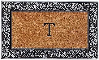 Home & More 10002SILVT Prestige Silver Monogram Doormat (Letter T)