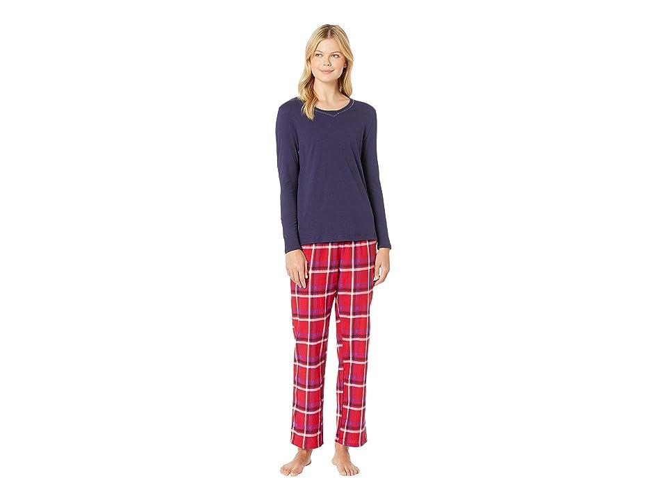 Nautica Cotton Flannel Pajama Set (End Red Plaid) Women