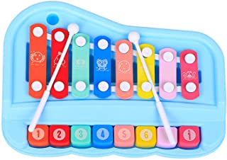 SY-73 2-In-1 Xylophone Piano Musical Instrument Toys with Mallets for Children Toddlers Boys Girls