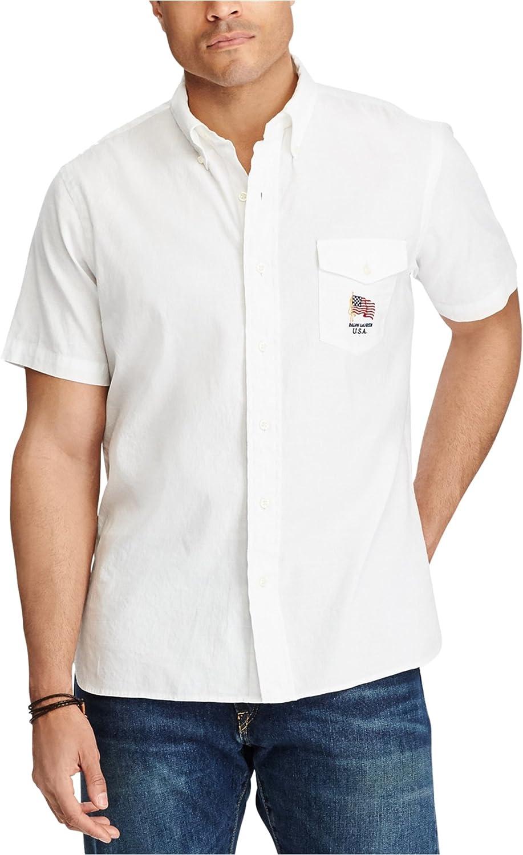 Ralph Lauren Mens Sl Button Up Shirt
