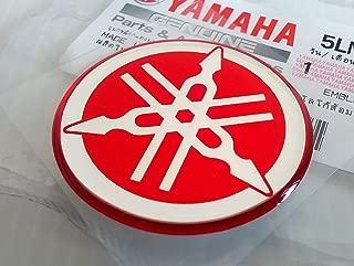 Yamaha 5LN-F313B-09-RE - Genuine 40MM Diameter Yamaha Tuning Fork Decal Sticker Emblem Logo Red Raised Domed Gel Resin Self Adhesive Motorcycle / Jet Ski / ATV / Snowmobile