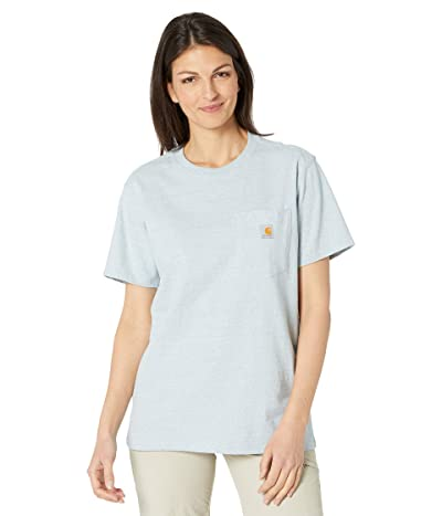 Carhartt WK87 Workwear Pocket Short Sleeve T-Shirt (Tourmaline Headband Print) Women
