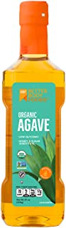 BetterBody Foods Raw Organic Agave Nectar, All Natural Sugar, Syrup or Honey Substitute, Low-Glycemic Sweetener, 25 Ounce