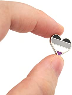Compoco Tiny Asexual Pin Heart Flag an Enamel Pin Decoration for Clothes and Bags